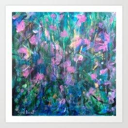 """FAIRY DREAMS"" Original Painting by Cyd Rust Art Print"