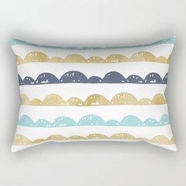 Golden Pastel Clouds Rectangular Pillow