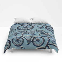 Blue Bicycles Comforters