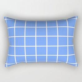 light blue cube Rectangular Pillow