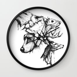 Moony Wormtail Padfoot Prongs Wall Clock