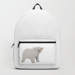 Watercolour Polar Bear Cub Backpack
