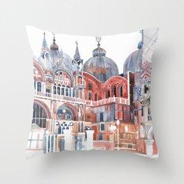 Basilica San Marco, Venezia Throw Pillow