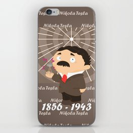 Nikola Tesla iPhone Skin