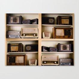 Vintage radio Canvas Print