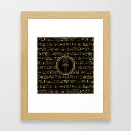 Gold Egyptian Ankh Cross symbol Framed Art Print