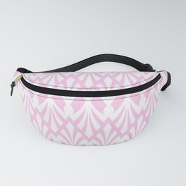 Decorative Plumes - White on Pastel Pink Fanny Pack
