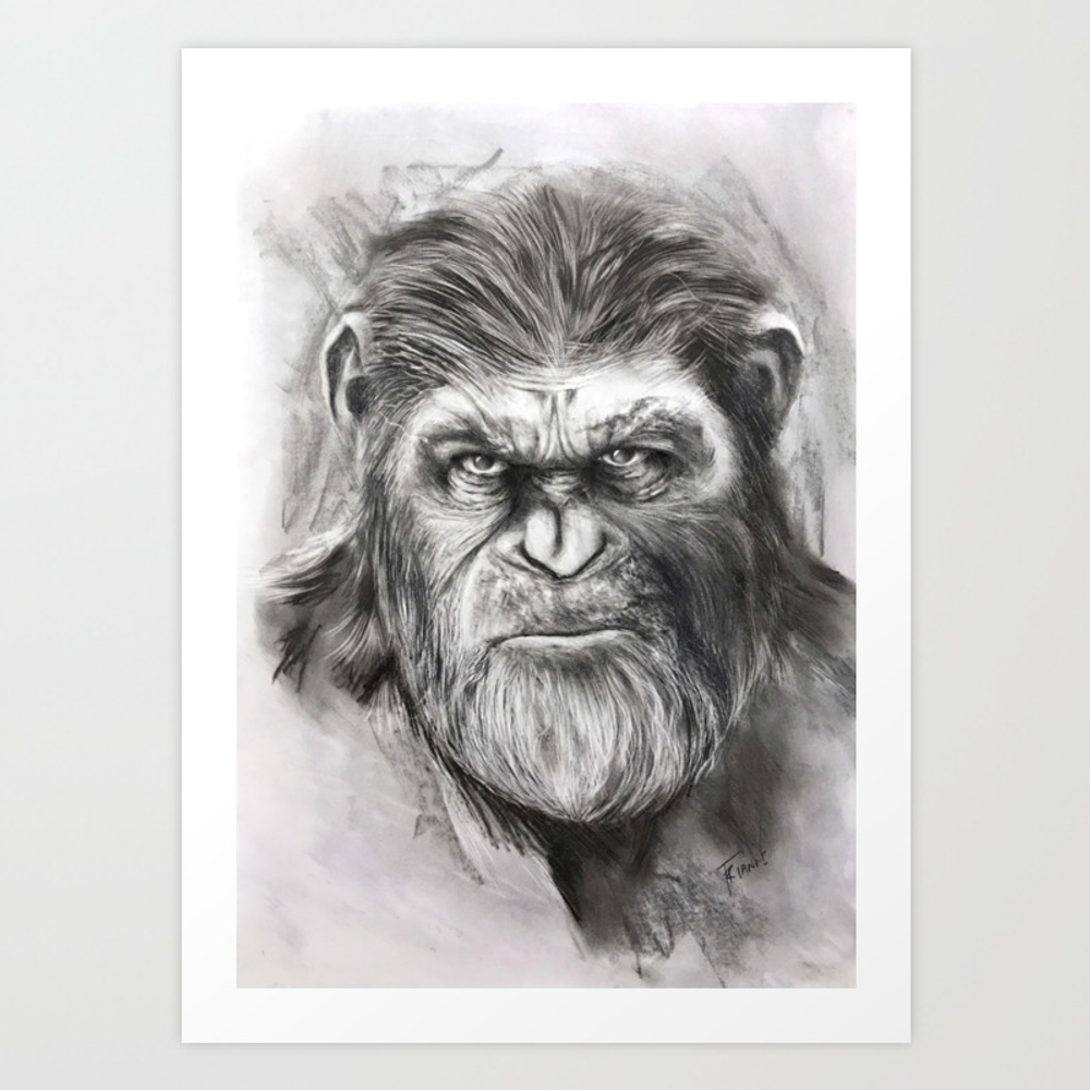 Caesar: War For The Planet Of The Apes Art Print by Legacyart PRN7715581