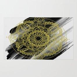 Black & Gold Zendala Rug