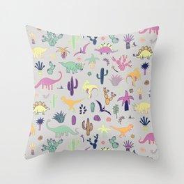 Dinosaur Desert Throw Pillow