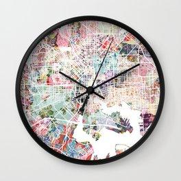 Baltimore map Wall Clock