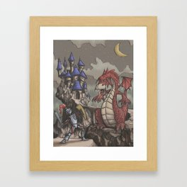 The Young Knight versus the Fat-Bellied Bull Dragon Framed Art Print