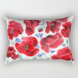 Flowers of the Cornfield Rectangular Pillow