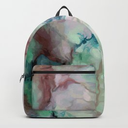 Colorful watercolor marble Backpack
