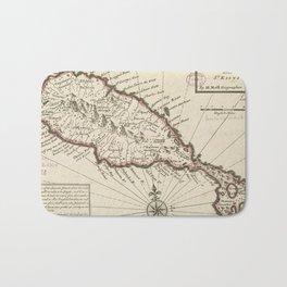 Vintage Map of Saint Kitts (1732) Bath Mat