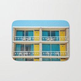 Retro Hotel Print Bath Mat