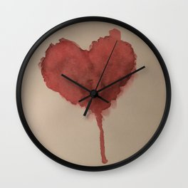 Dripping Heart Wall Clock