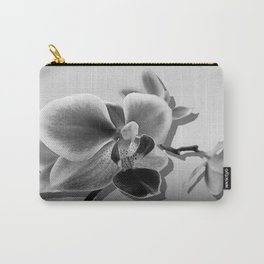 Orchid in Black and White A537 Carry-All Pouch