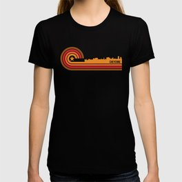 Retro Cheyenne Wyoming Skyline T-shirt