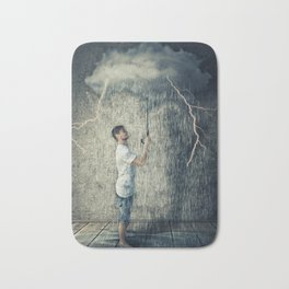 umbrella cloud Bath Mat