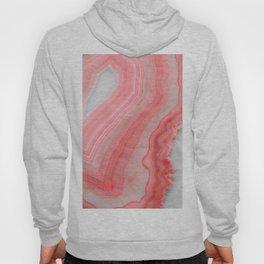 Coral Pink Agate  Hoody