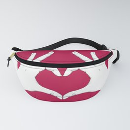 Love Hands Red Fanny Pack