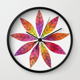 Ring of Leaves - Fall Colors Wall Clock