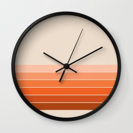 Red Rock Spring Stripes Wall Clock