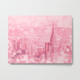 Pink and Bubbly New York City Metal Print