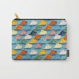Happy Hippo Family Carry-All Pouch