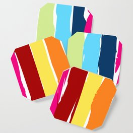 Multicolor stripes background Coaster