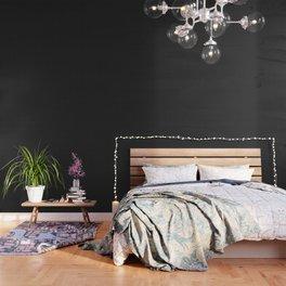 Classic White Polka Dot Hearts on Black Background Wallpaper