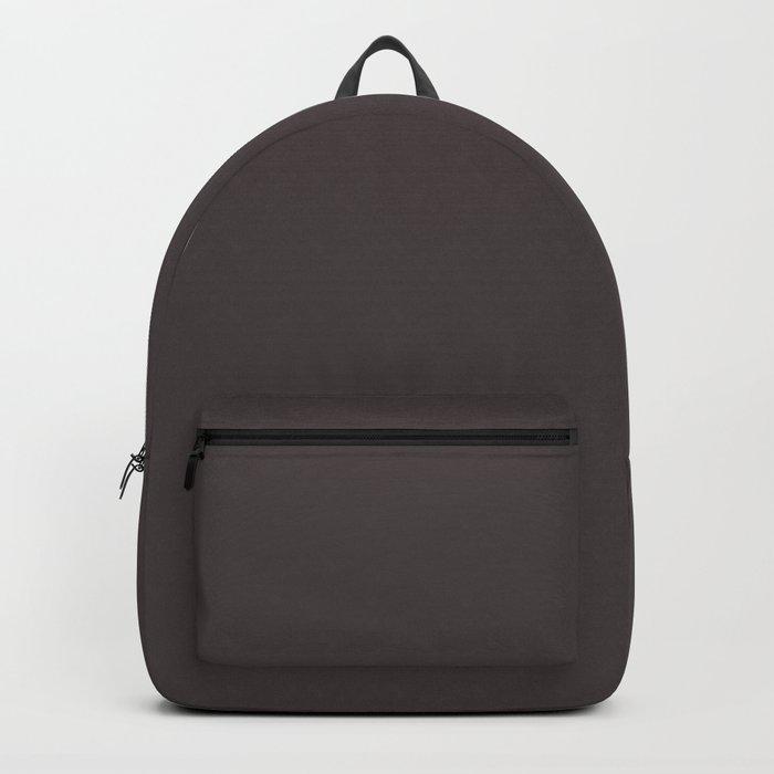 Solid Eel Black Color Code #463E3F Backpack