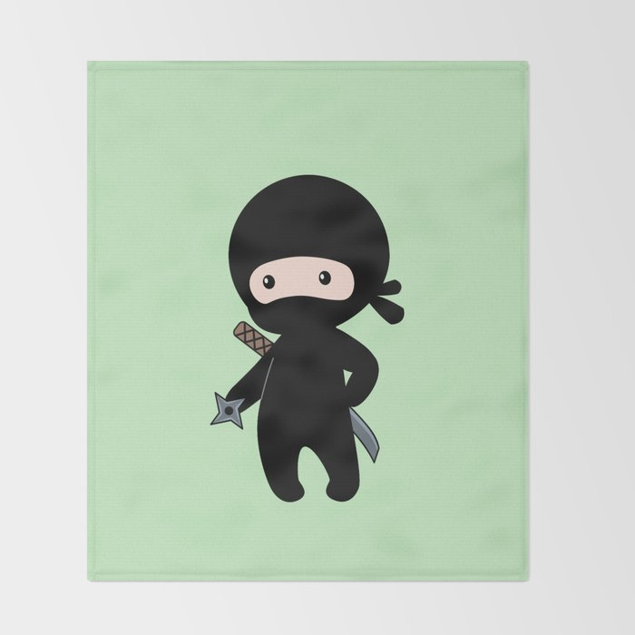 Tiny Ninja Throw Blanket