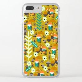 Autumn gnome garden Clear iPhone Case