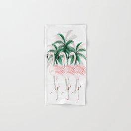 Three Flamingos Hand & Bath Towel