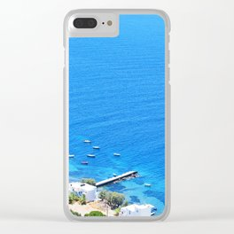 252. Sea View, Greece Clear iPhone Case