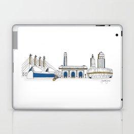 Kansas City Skyline Illustration in KC Royals Colors Laptop & iPad Skin