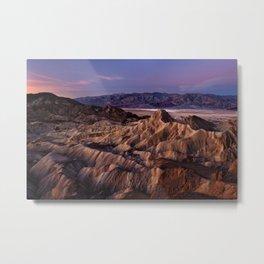 Zabriskie Point, Death Valley National Park Metal Print
