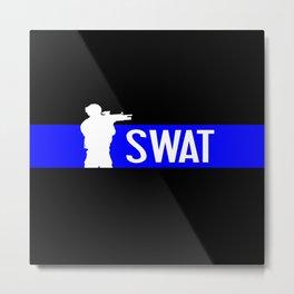SWAT: Thin Blue Line Metal Print
