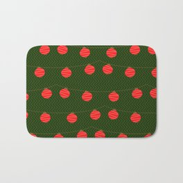RED LIGHTS PATTERN Bath Mat