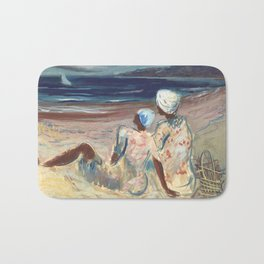 On the Beach by Victor Laredo Bath Mat