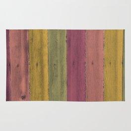 Colorful Wood Grain Rug