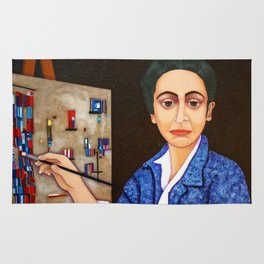 M. Helena Vieira da Silva - dialogue between abstraction and figuration Rug