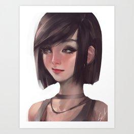 short hair Art Print