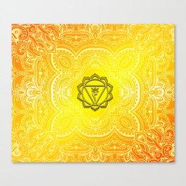 Solar Plexus Chakra Mandala Canvas Print