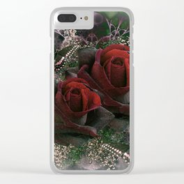 PASSIONATE ROSES Clear iPhone Case