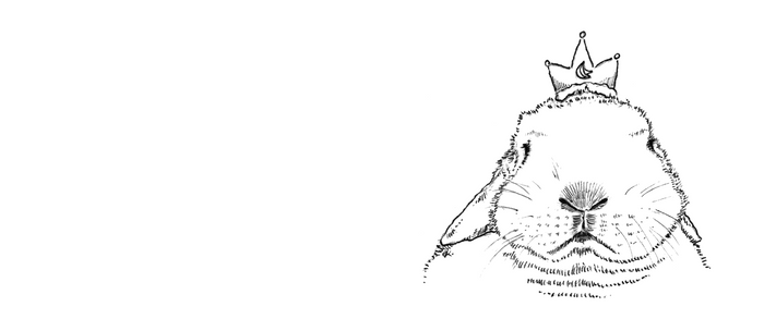 King Paopao Rabbit Pen Illustration Coffee Mug