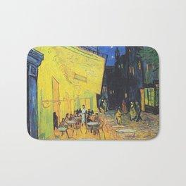 Café Terrace at Night by Vincent van Gogh Bath Mat