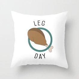 Leg Day Throw Pillow